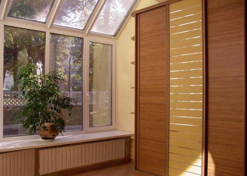 Шкаф-купе бамбук фото.
